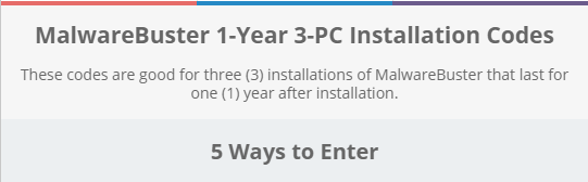 MalwareBuster 1-Year 3-PC